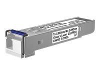 HPE - SFP (mini-GBIC) transceiver module - GigE - 1000Base-BX-U - LC single-mode - up to 6.2 miles - remarketed - for HPE E3500; OfficeConnect 1410 24; HPE Aruba 2530, 2615, 2915, 2930F 24, 2930F 48, 5406