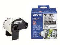 Brother DK-22212 Permanent klæbemiddel hvid