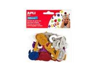 APLI kids - Adhésif décoratif - 50 sachets mousse - chiffres - disponibles dans différentes couleurs