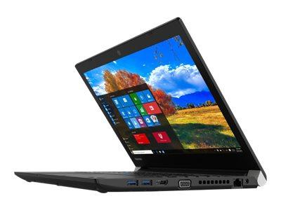"""Toshiba Tecra A40-D - Core i7 7600U / 2.8 GHz - Win 10 Pro 64-bit - 8 GB RAM - 256 GB SSD - DVD SuperMulti - 14"""" 1366 x 768 (HD) - HD Graphics 620 - Wi-Fi - graphite black metallic, black (keyboard) - kbd: English - US"""