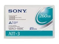 Sony 8Mm Ait-3 100Gb/260Gb 1Pk