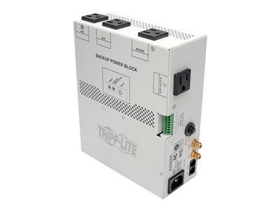 Tripp Lite Audio/Video Backup Power Block - UPS (internal) - AC 120 V - 300 Watt - 550 VA - output connectors: 4 - white