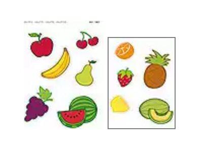 APLI kids Maxi - Adhésif décoratif - - 24 gommettes - fruits