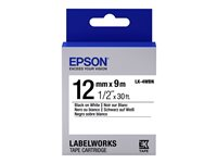 Epson Label Cartridge LK-4WBN Black on White 12MM (9M)