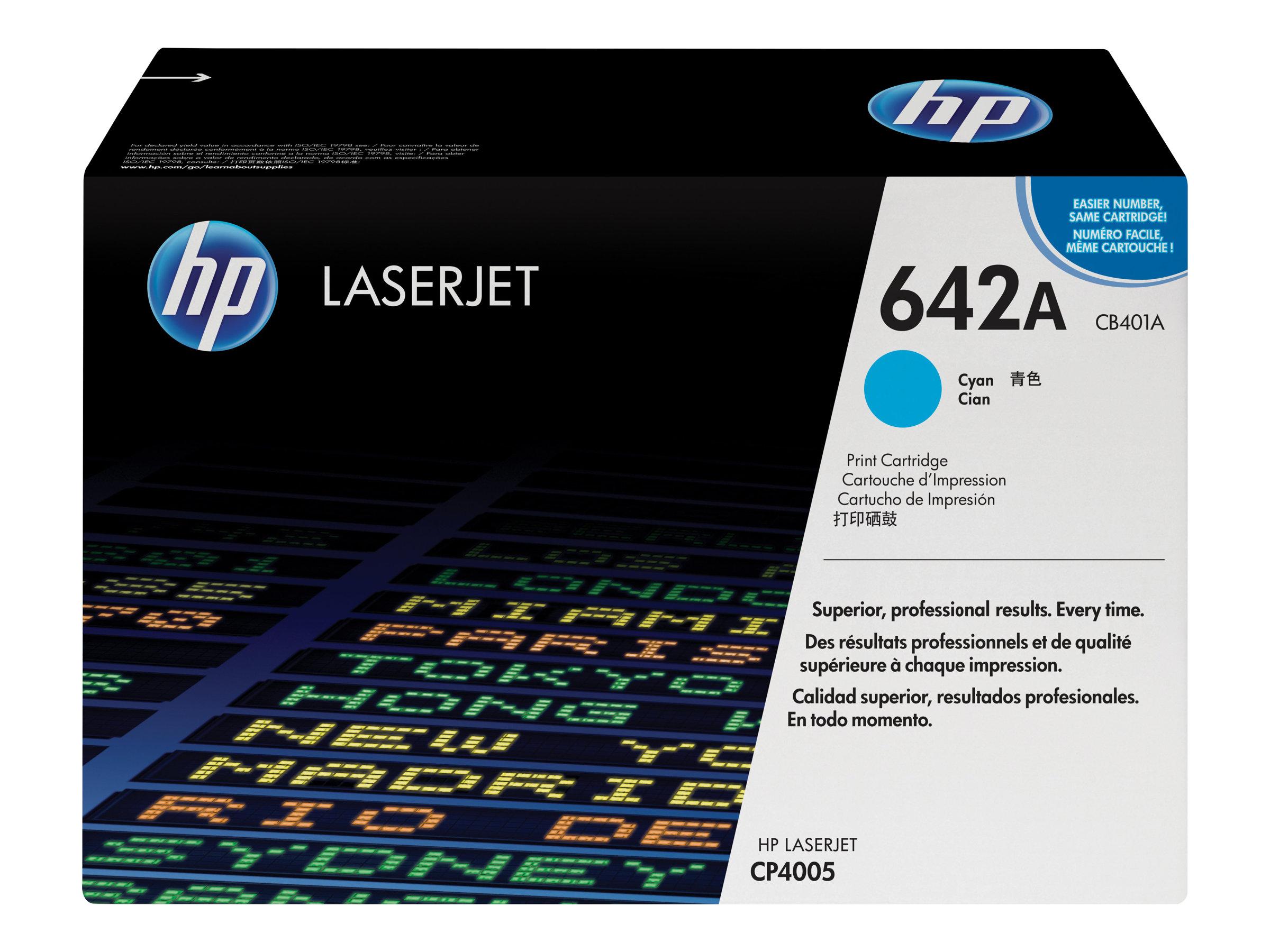 HP 642A - cyan - originale - LaserJet - cartouche de toner (CB401A)