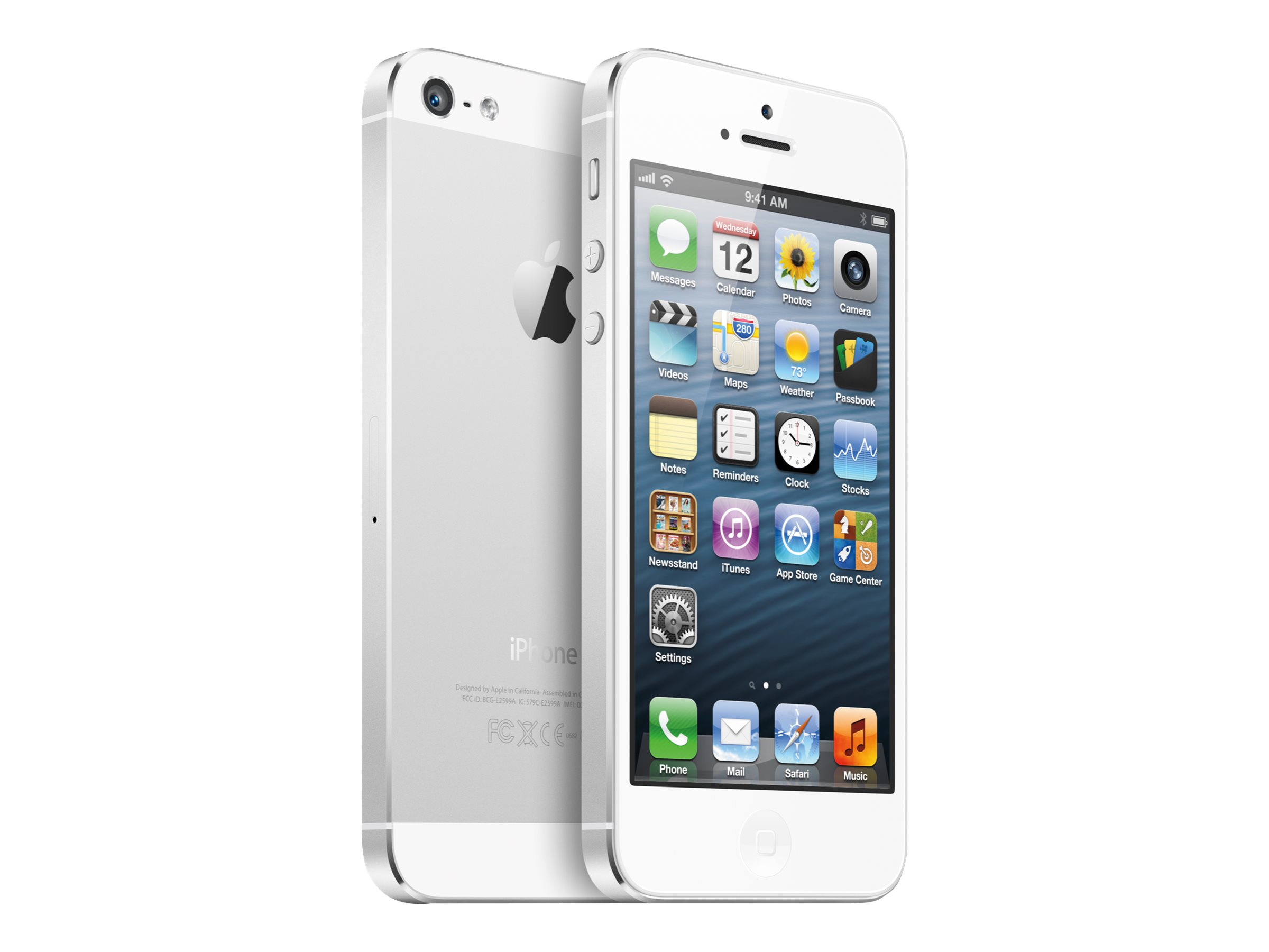 apple iphone 5 reconditionn blanc et argent 3g lte. Black Bedroom Furniture Sets. Home Design Ideas