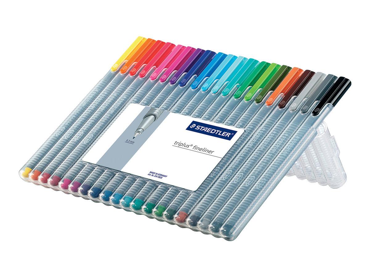 STAEDTLER triplus 334 - 20 Feutres fin - 0.3 mm - couleurs différentes disponibles - par 2 ou par 20