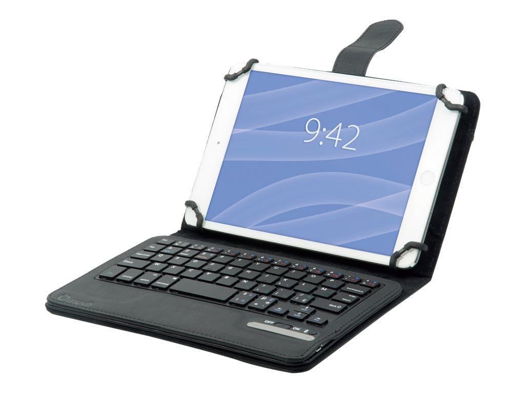 muvit tui universel noir avec clavier bluetooth azerty pour tablettes 7 8 39 39 etuis tablettes. Black Bedroom Furniture Sets. Home Design Ideas