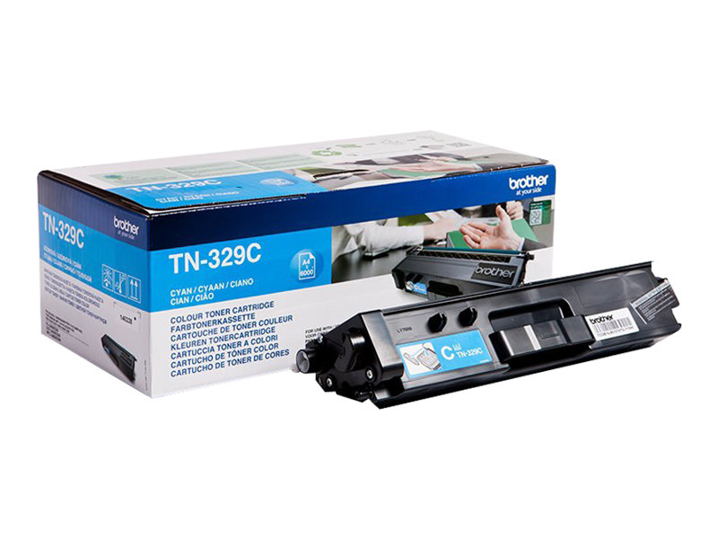 Brother TN329C - cyan - originale - cartouche de toner