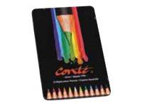 Conté - Crayons à aquarelle - couleurs assorties - 2.9 mm - par 12 ou par 24