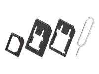 goobay SIM-kort adaptersæt sort