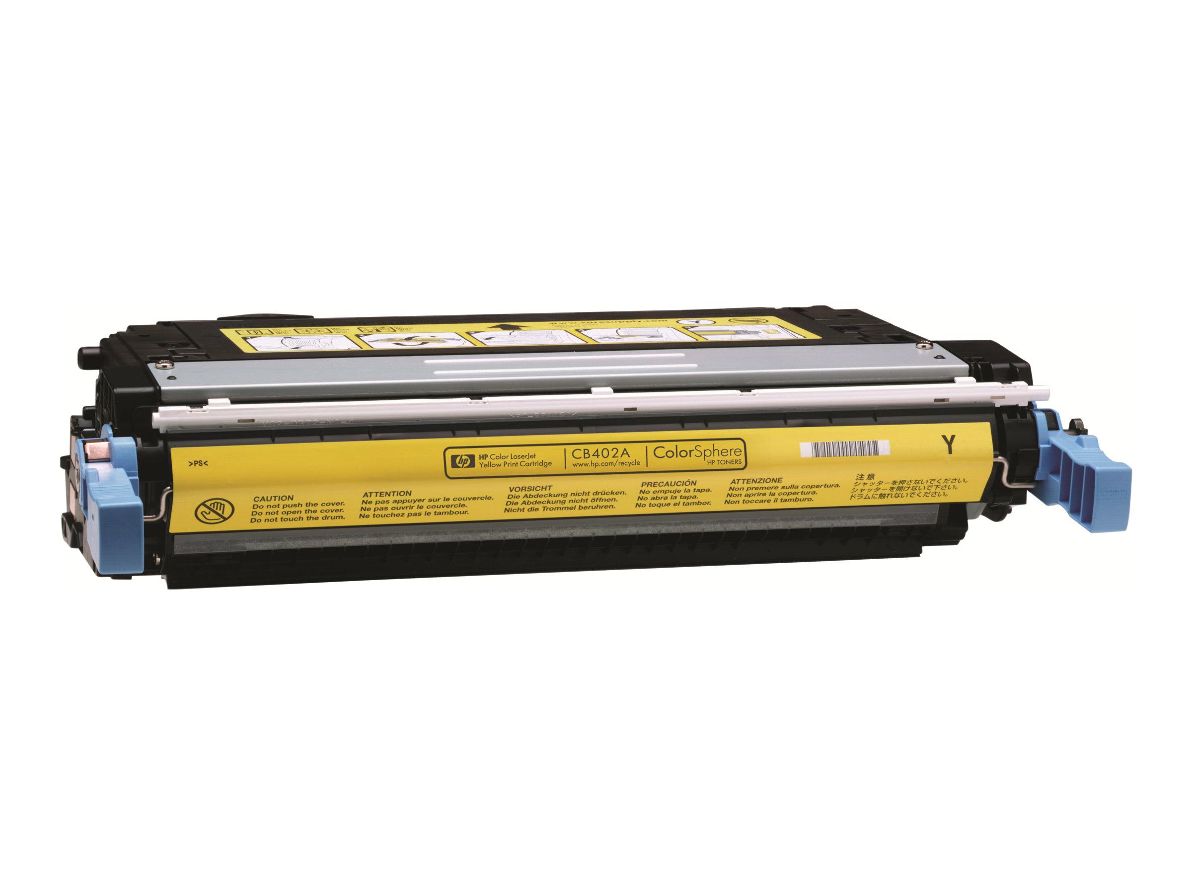 HP 642A - jaune - originale - LaserJet - cartouche de toner (CB402A)