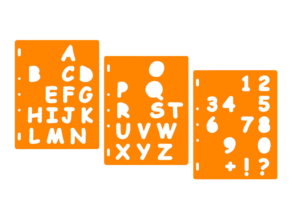 Fiskars ShapeTemplate Letters #3 Uppercase - modèle