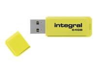 Integral Europe Cl�s USB INFD64GBNEONYL