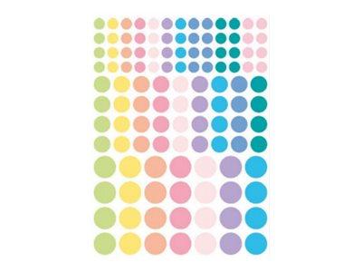 Oberthur Géométriques - 348 Gommettes - rond - assorti pastel