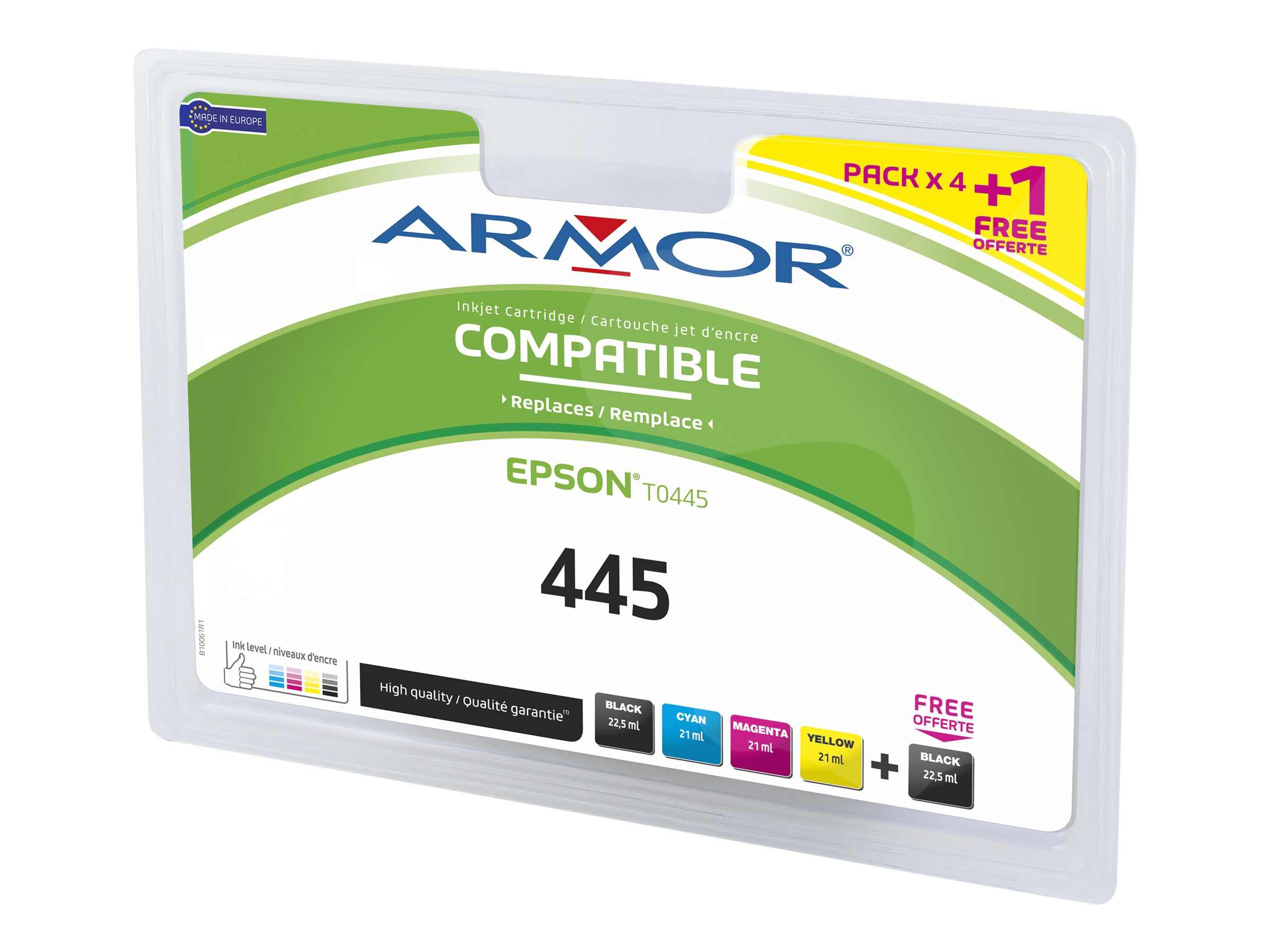 Armor - pack de 4 - noir, jaune, cyan, magenta - cartouche d'encre (alternative for: Epson T044140)