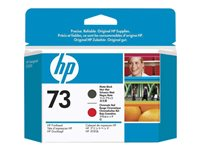 HP 73 Matte Black / Chromatic Red Printhead