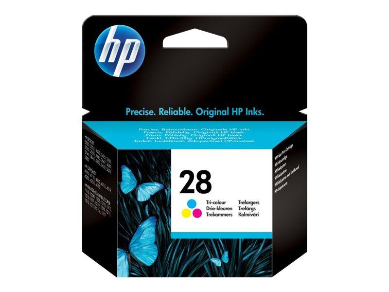 HP 28 - couleur (cyan, magenta, jaune) - originale - cartouche d'encre (équivalent à : HP 27 )
