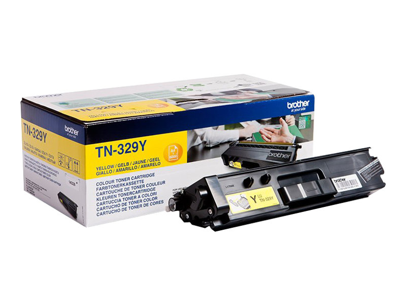 Brother TN329Y - jaune - originale - cartouche de toner