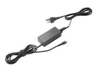 HP USB-C G2 - Power adapter - AC - 45 Watt - United States - for Chromebook x360; Elite x2; EliteBook 840 G5, 850 G5; MX12; Pro x2; ProBook 470 G5