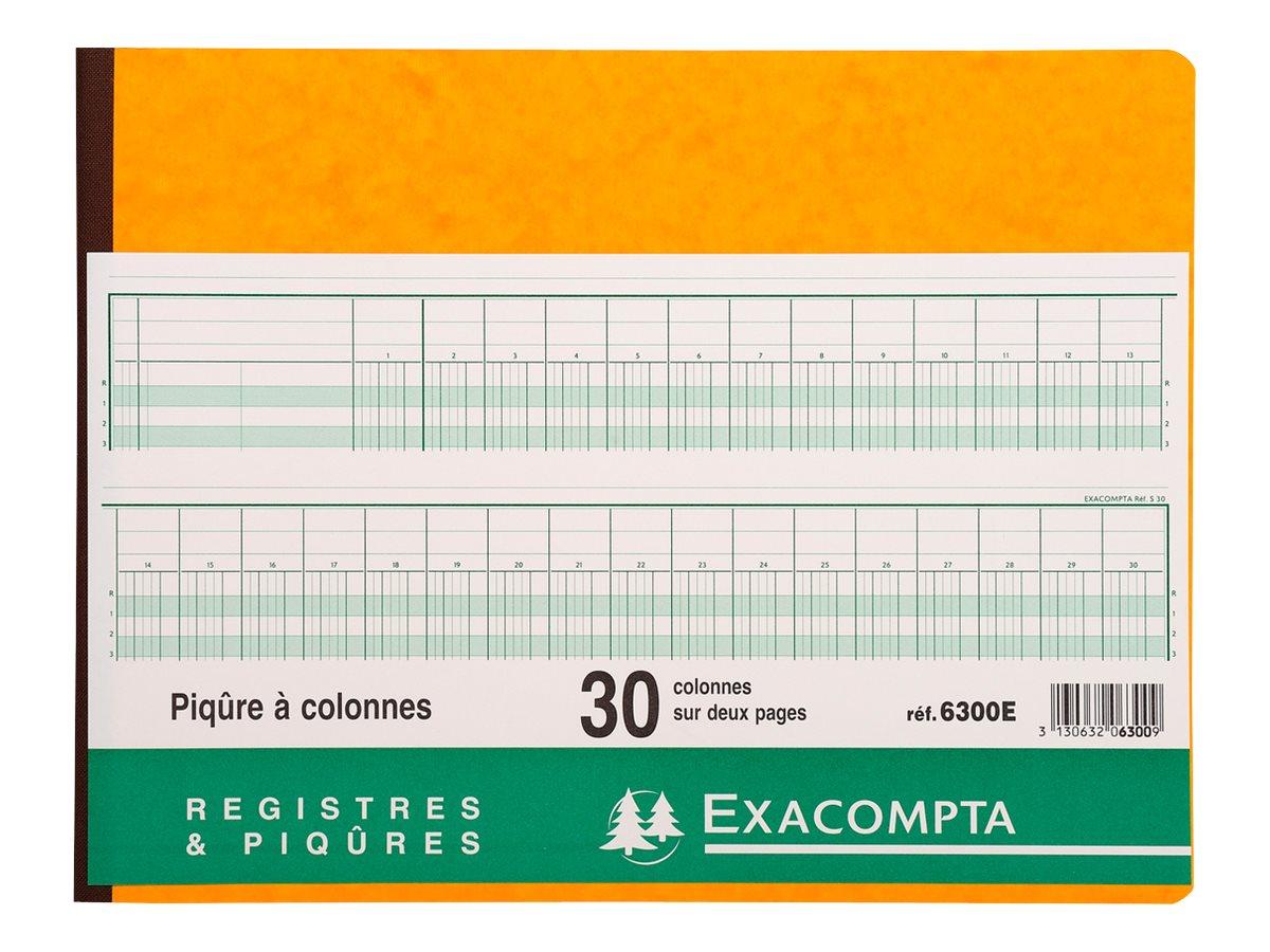 Exacompta - Registre - 30 colonnes - 320 x 250 mm - paysage