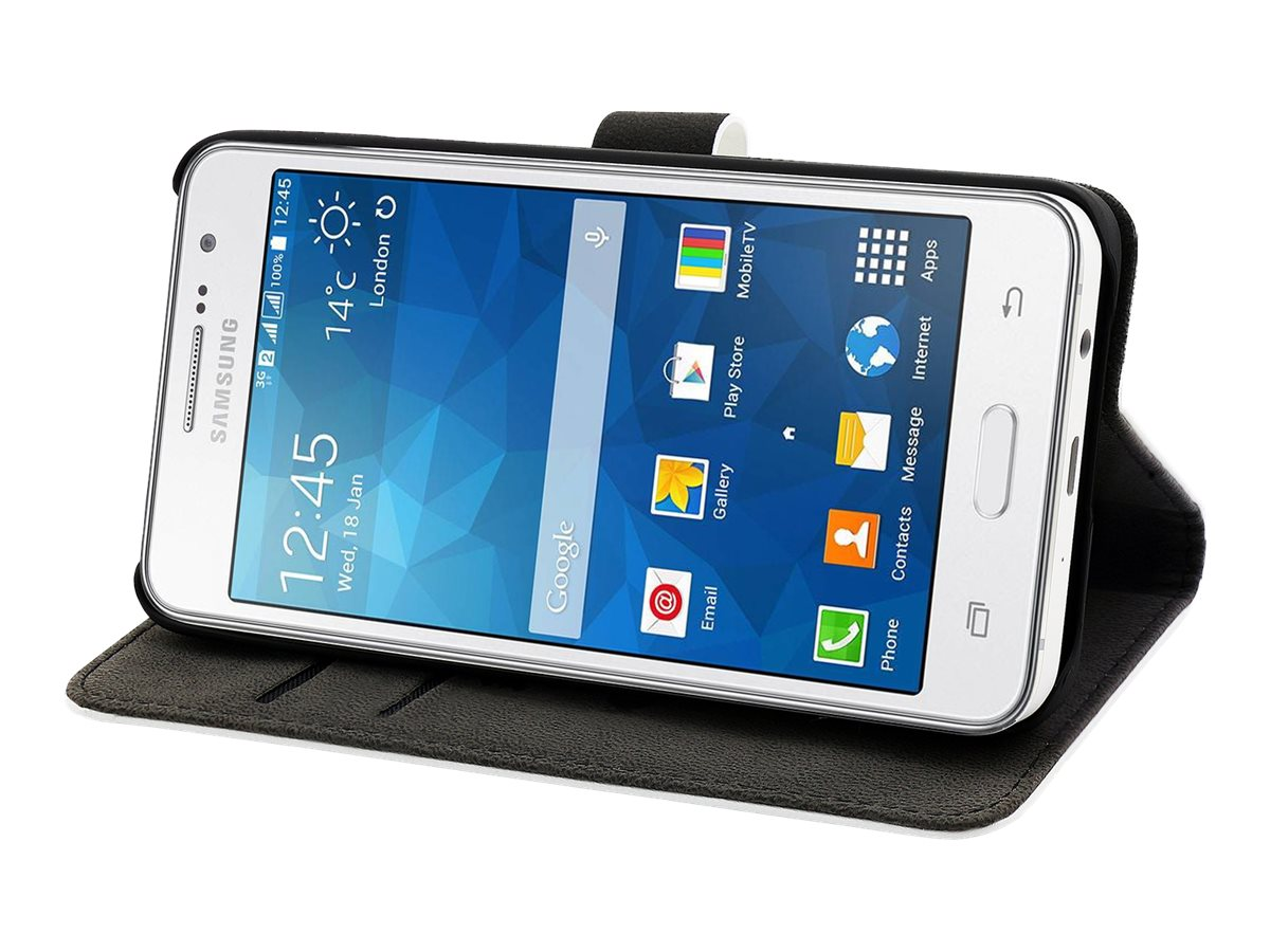 Muvit Slim S Folio - Protection à rabat pour Samsung Galaxy Grand Prime - blanc
