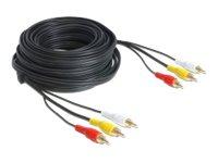 Delock Cable Audio/Video 3 x RCA male, Delock Cable Audio/Video