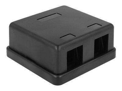 DeLOCK Keystone Surface Mounted Box - Kryt zásuvné jednotky - černá - 2 porty