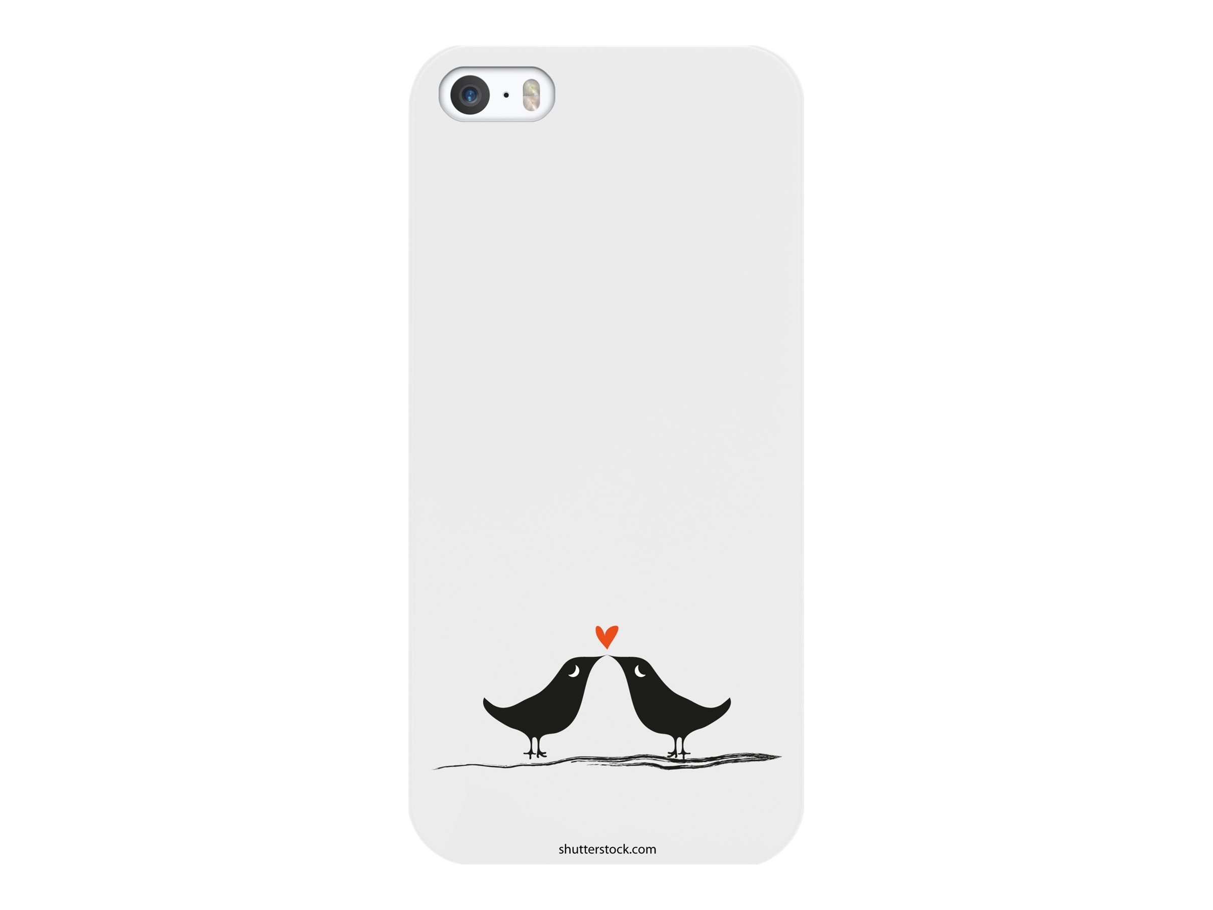Muvit love birds - Coque de protection pour iPhone 5, 5s - noir, blanc