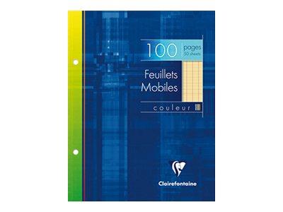 Clairefontaine - A5+ - Copies simples - 17 x 22 - 100 pages - Grands carreaux