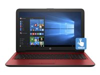 """HP 15-ba082nr - A8 7410 / 2.2 GHz - Windows 10 Home - 4 GB RAM - 1 TB HDD - DVD SuperMulti - 15.6"""" touchscreen 1366 x 768 (HD) - Radeon R5 - textured linear grooves with horizontal brushing in cardinal red - kbd: US"""
