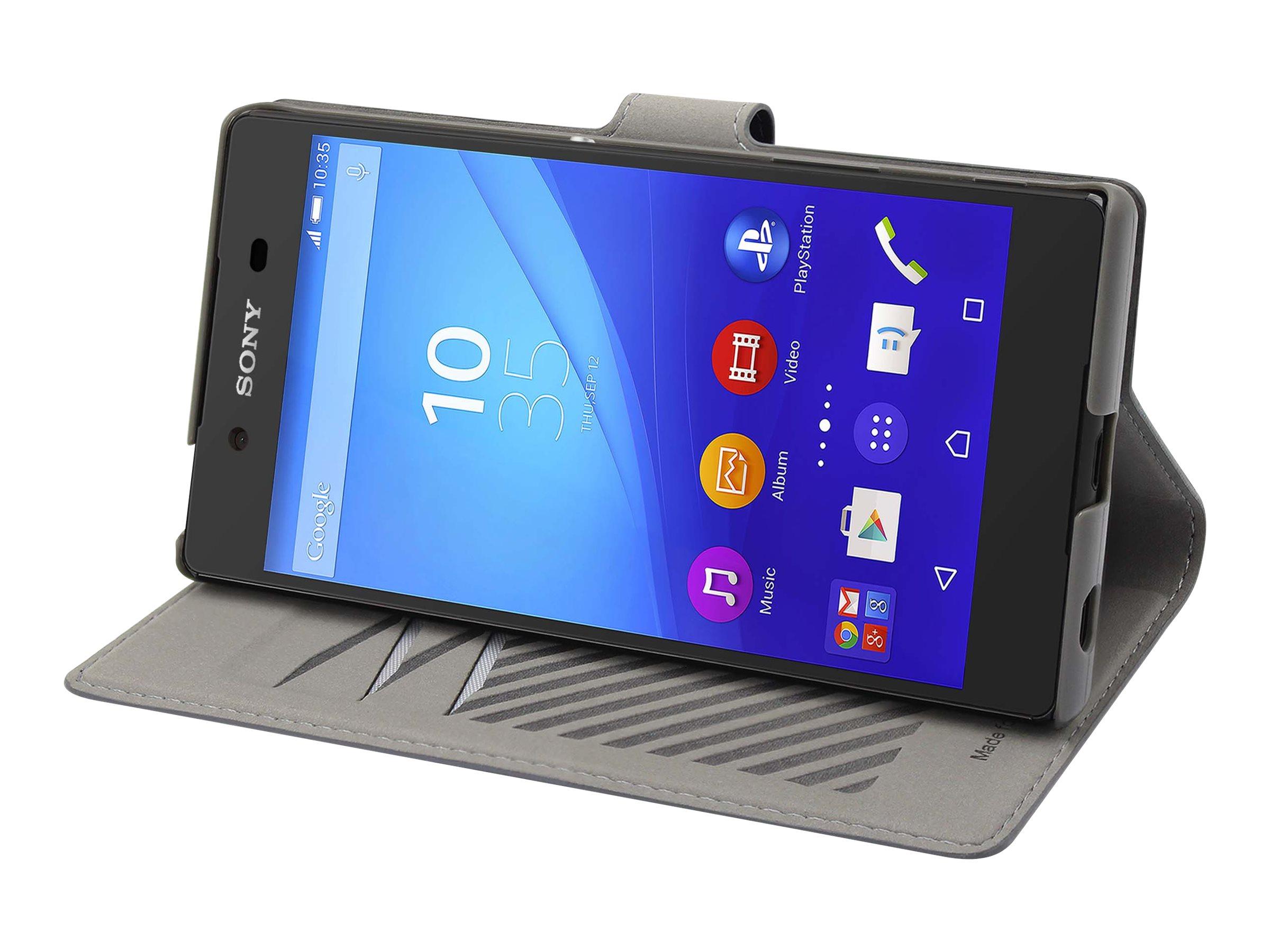 Muvit MFX slim s folio - Protection à rabat pour Sony XPERIA Z5 Premium - gris
