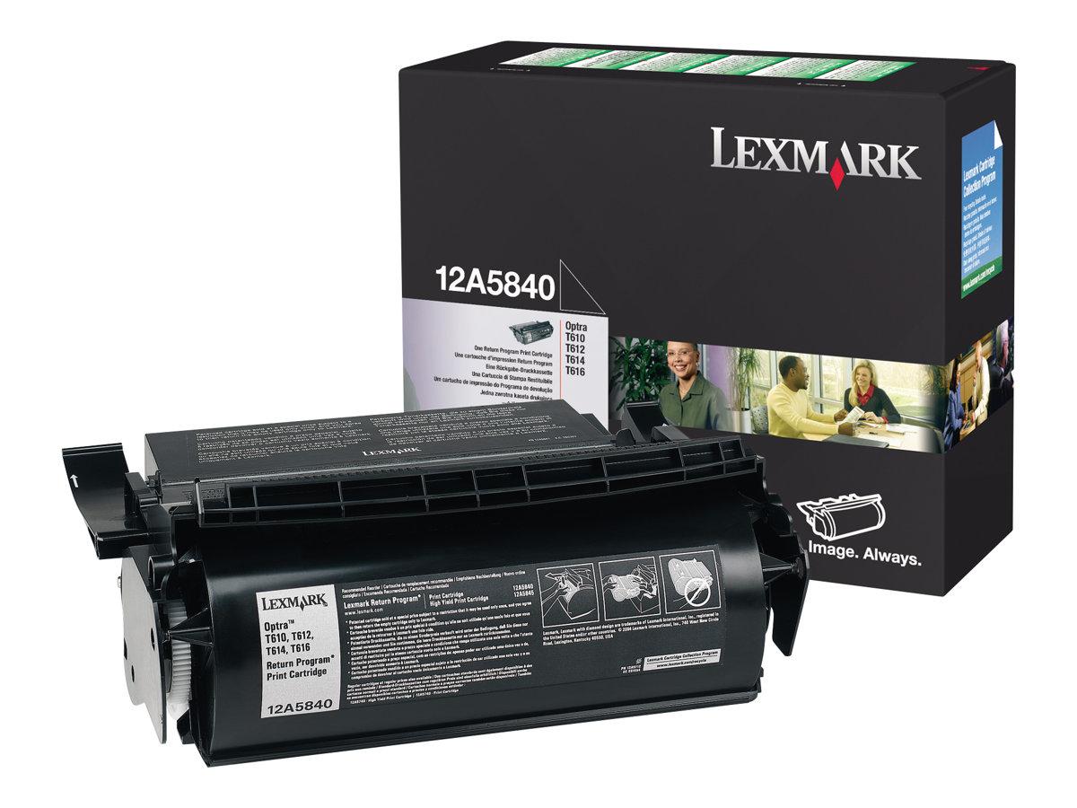 Lexmark - 1 - 12A5840 - noire - 10 000 pages originale - cartouche de toner