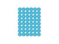 Apli Agipa - 192 Adhésifs décoratifs - étiquettes remise -40% - bleu