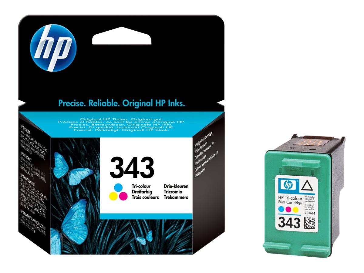 HP 343 - couleur (cyan, magenta, jaune) - originale - cartouche d'encre