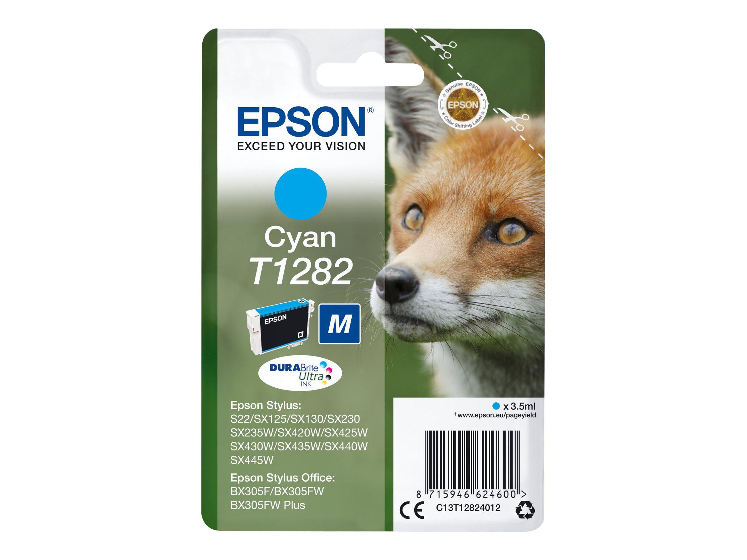 Epson T1282 - renard - taille M - cyan - originale - cartouche d'encre