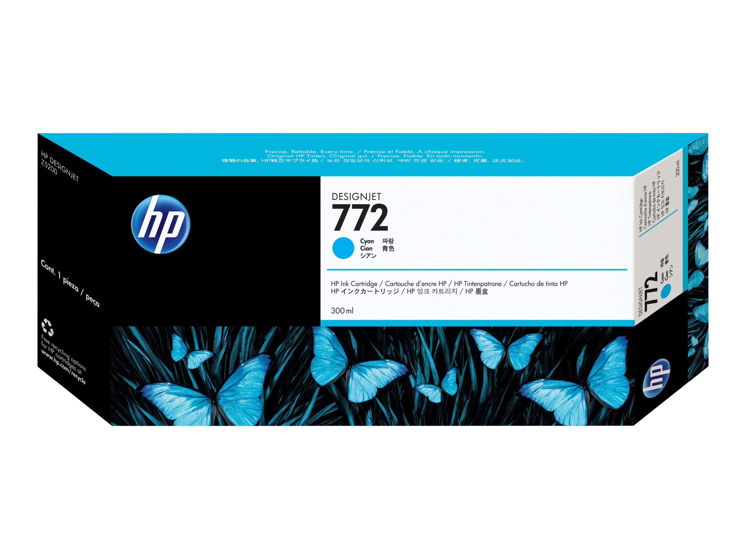 HP 772 - cyan - originale - cartouche d'encre