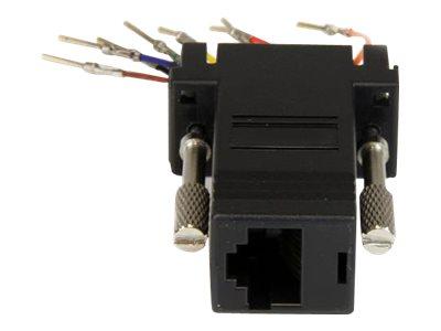 Stecker/Buchse, Seriell Adapter DB-9 / RJ-45, St / Bu Ethernet-Kabel StarTech.com DB9 auf RJ45 Modular-Adapter Kabel