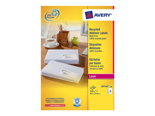 Image of Avery QuickPEEL Recycled Labels - permanent adhesive address labels - 1600 label(s)