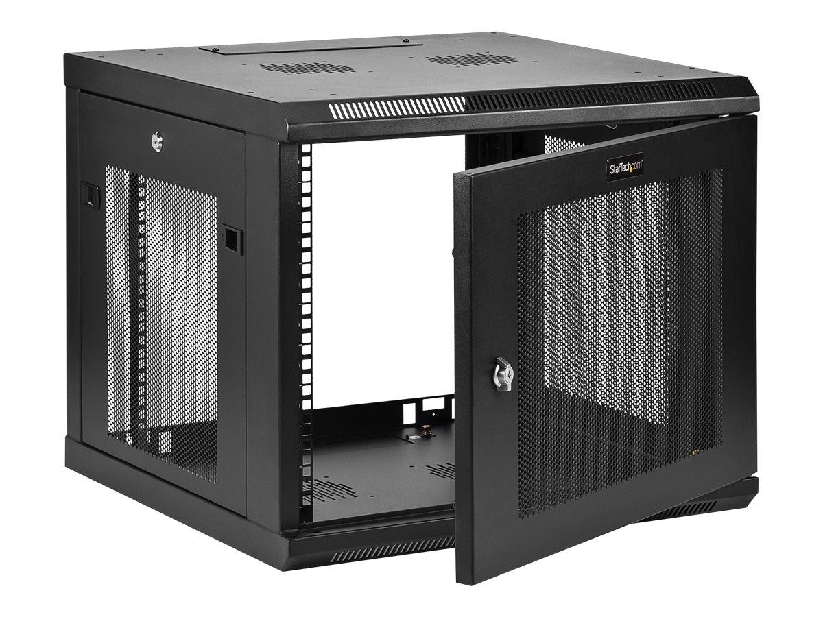 """Image de StarTech.com """"9U Wall Mount Server Rack Cabinet - 4-Post Adjustable Depth (2"""""""" to 19"""""""") Network Equipment Enclosure with Cable Management (RK920WALM)"""" - Armoire de rack - montable sur mur - noir - 9U"""