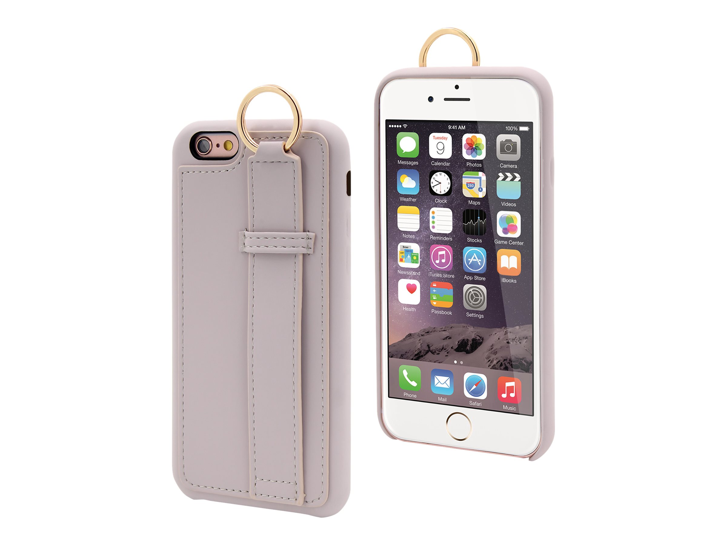 MUVIT LIFE Ring - Coque de protection pour iPhone 6, 6s - beige