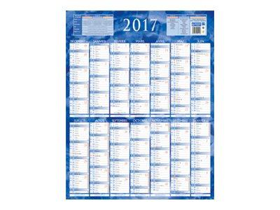 CBG Bleu & rouge 229 - Calendrier de banque - Décembre 2016- Janvier 2018 - 550 x 430 mm