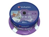 Verbatim - DVD+R DL x 25 - 8.5 Go - support de stockage