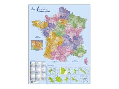 CBG - Carte - 660 x 845 mm - carte de France, Europe ou Monde - différents modèles disponibles