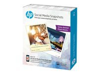 HP Social Media Snapshots - Soft-glossy - removable self-adhesive - 11 mil - 4 in x 5 in - 265 g/m² - 25 sheet(s) photo paper - for Envy 76XX; Officejet Enterprise Color MFP X585; Officejet Enterprise Color Flow MFP X585
