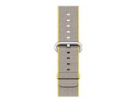 Apple 38mm Woven Nylon Band Urrem 125 195 mm gul, lysegrå