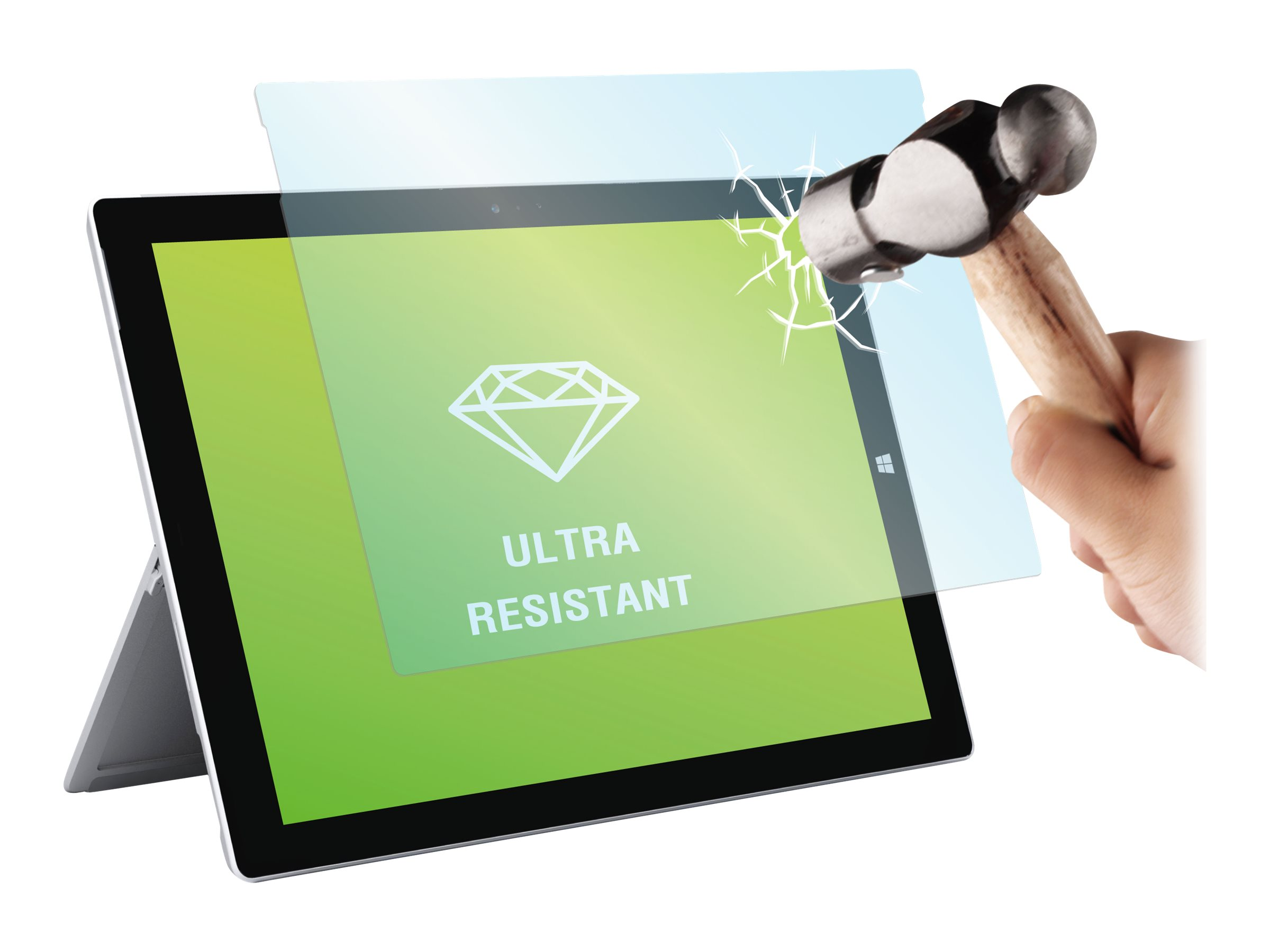Muvit - 1 film de protection d'écran - verre trempé - pour Microsoft Surface 3