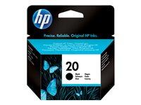HP Cartucho de tinta negro (nº20) 455 páginasC6614DE