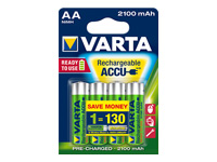 Varta Power Accu Batteri 4 x AA type NiMH ( rechargeable ) 2100 mAh