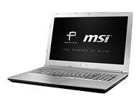"MSI PE62 7RD 1095 - Core i7 7700HQ / 2.8 GHz - Win 10 Pro - 32 GB RAM - 512 GB SSD + 1 TB HDD - 15.6"" 1920 x 1080 (Full HD) - NVIDIA GeForce GTX 1050 - 802.11ac - aluminum silver"